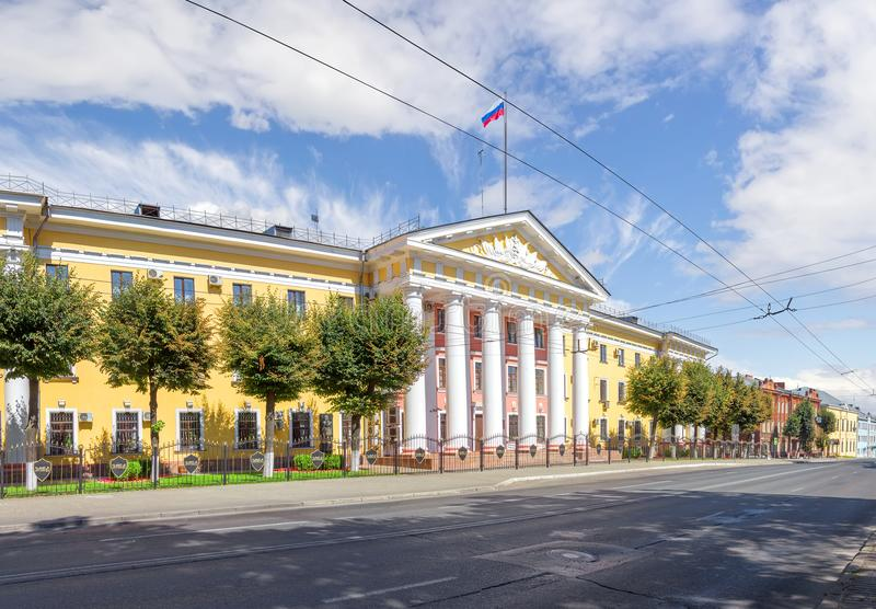 Office of the Ministry of Internal Affairs of Russia in Vladimir. Vladimir, Russia - August 13, 2017: The building of the Directorate of the Ministry of Internal royalty free stock image