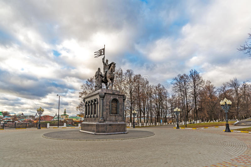 Vladimir, Russia - November 05.2015. The monument to St. Prince Vladimir and Fedor. Vladimir, Russia - November 05.2015. The monument to a St. Prince Vladimir stock image