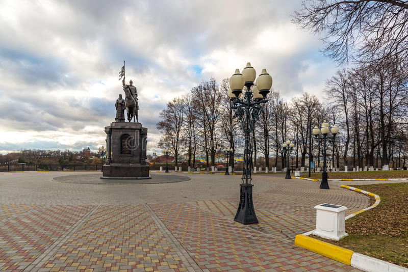 Vladimir, Russia - November 05.2015. The monument to St. Prince Vladimir and Fedor. Vladimir, Russia - November 05.2015. The monument to a St. Prince Vladimir stock photos