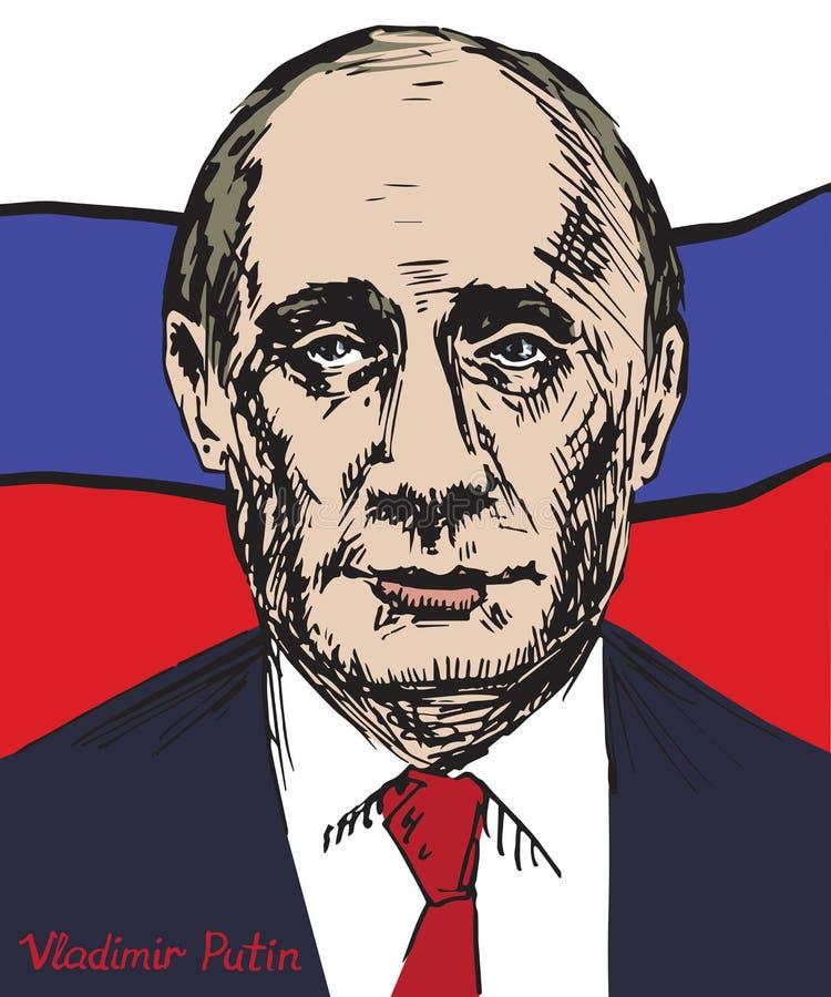 Vladimir Vladimirovich Putin, Rosyjski polityk, prezydent federacja rosyjska ilustracji