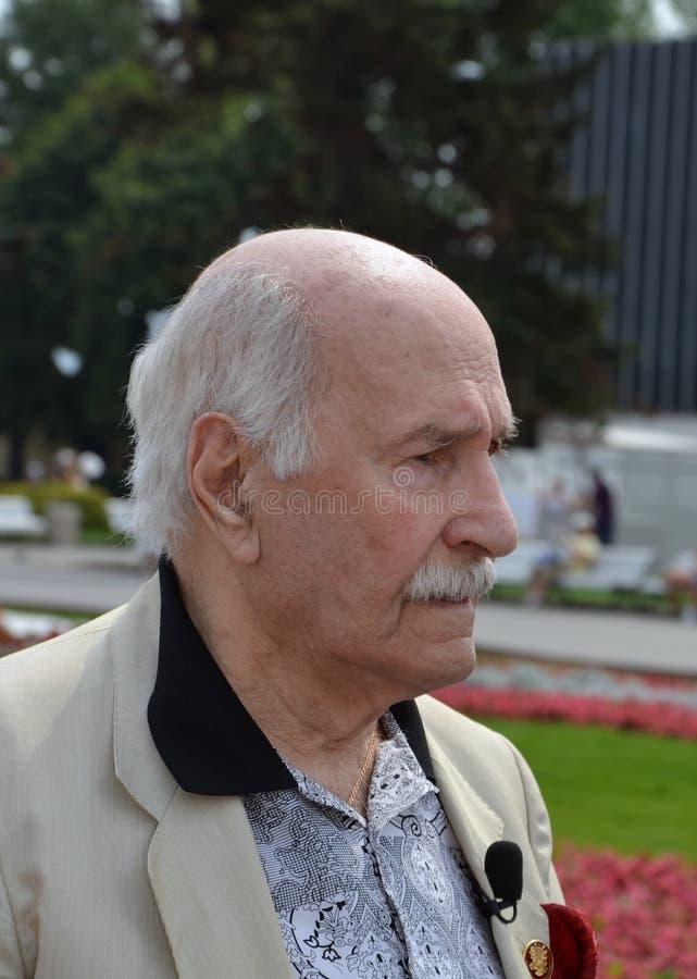 Vladimir Zeldin Oldest Russian-acteur stock afbeelding