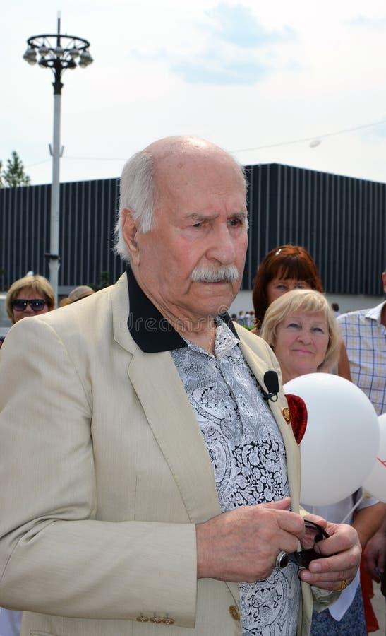 Vladimir Zeldin Oldest Russian-acteur royalty-vrije stock foto