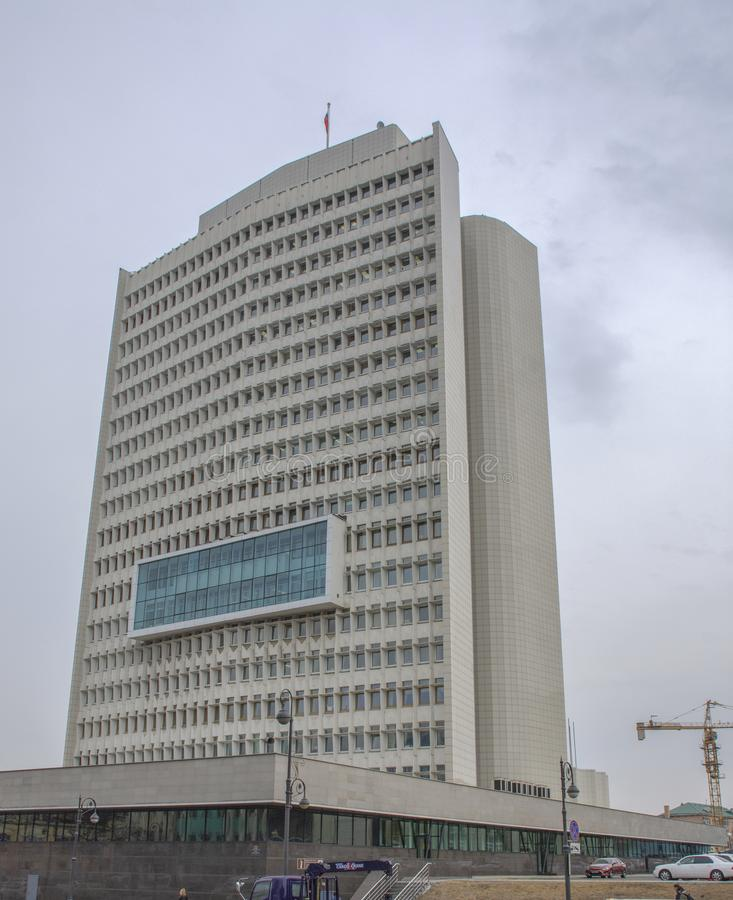 Vladivostok: De bouw van de Overheid van Primorsky Krai royalty-vrije stock foto