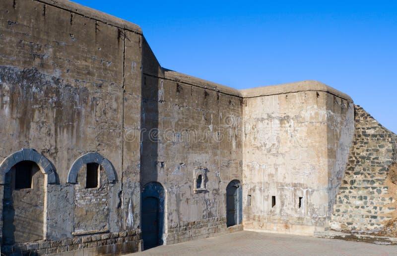 Vladivostok fort. Walls of the famous Vladivostok fortress stock images