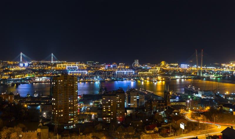 Vladivostok, Night View. Royalty Free Stock Photography