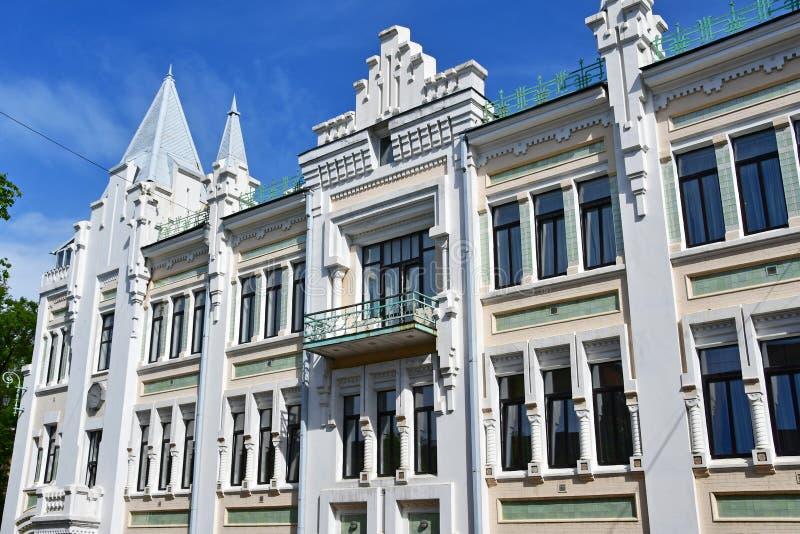 Vladivostok, Rusia, mayo, 21, 2019 Teatro de Pushkin 1907-1908 a?os de construcci?n, arquitecto - P wagner foto de archivo