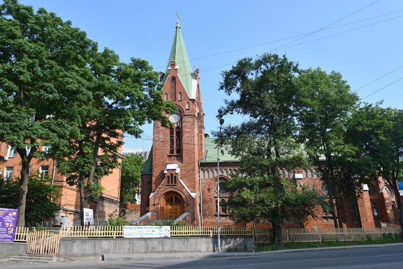 Vladivostok, Russie, juillet, 23, 2018 ?glise luth?rienne de St Paul dans Vladivostok, Russie image stock