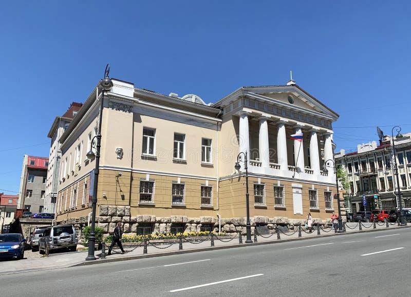 Vladivostok, Russie, mai, 23, 2019 Le bâtiment du tribunal régional de Primorsky, l'université civile Au début du 20ème siècle -  images stock