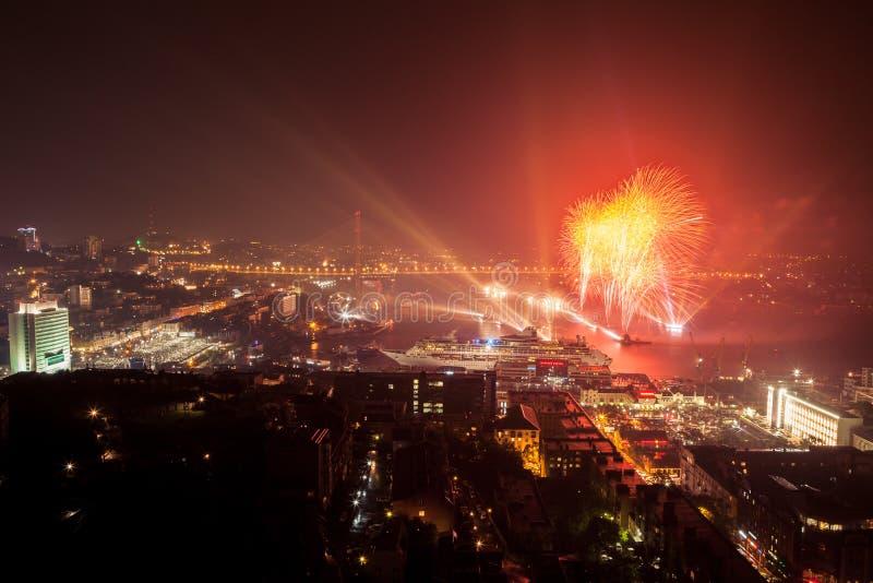 VLADIVOSTOK RYSSLAND - 08 SEPTEMBER 2012 royaltyfri foto