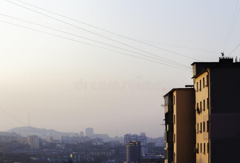 Vladivostok vroege ochtend royalty-vrije stock foto