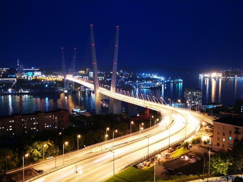 Vladivostok złoty most obrazy royalty free