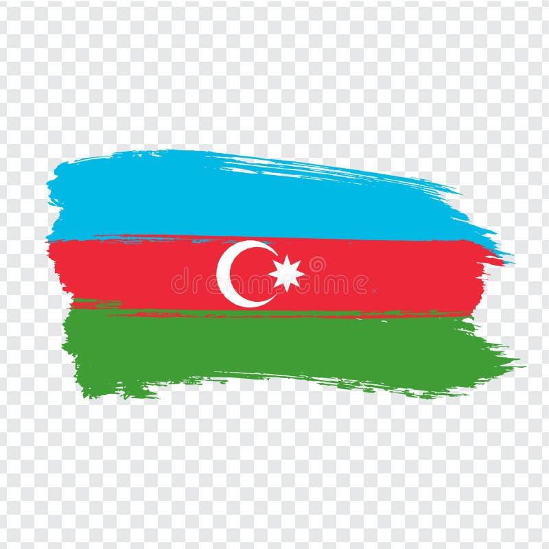 Vlag Azerbeidzjan van kwaststreken Vlag Republiek Azerbadjan op transparante achtergrond voor uw websiteontwerp, embleem, app, vector illustratie