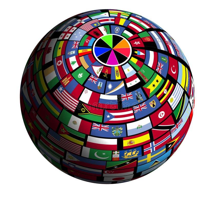 Vlag-behandelde aarde - mening Polar1 vector illustratie