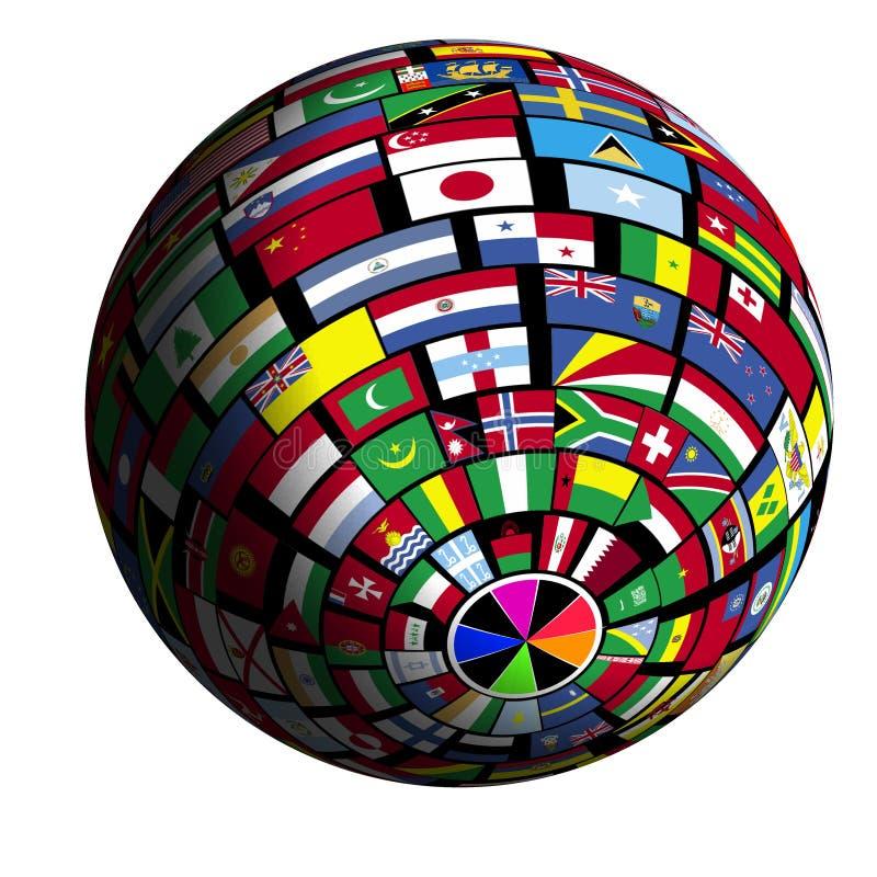 Download Vlag-behandelde Aarde - Mening Polar2 Stock Illustratie - Illustratie bestaande uit verenigd, groot: 282666