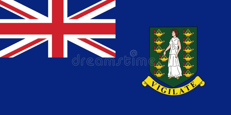 Vlag Britse Maagdelijke Eilanden in ambtenaar, vector vector illustratie