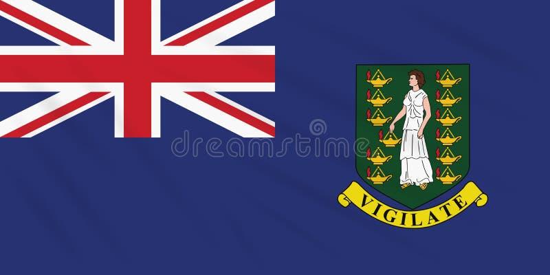 Vlag Britse Maagdelijke Eilanden die in windvector slingeren vector illustratie