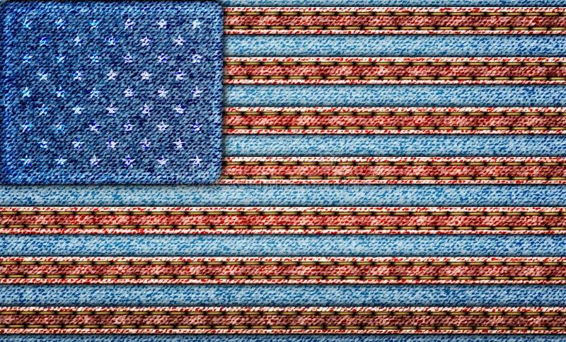 Vlag de V.S. vector illustratie
