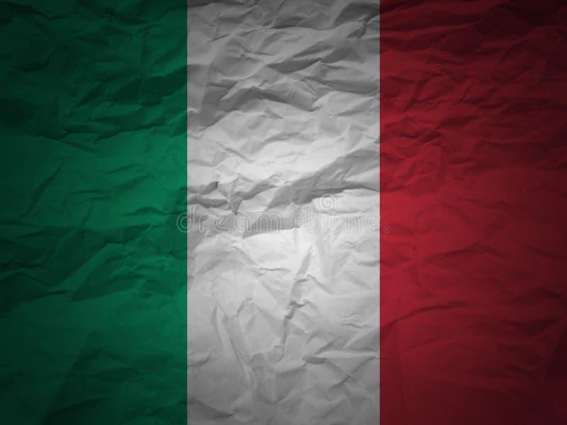 Vlag de van Achtergrond grunge van Italië vector illustratie