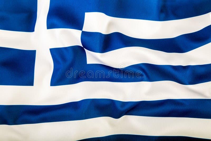 Vlag die van Griekenland in de wind golft royalty-vrije stock afbeelding