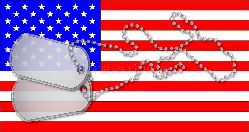 Vlag en Markeringen vector illustratie