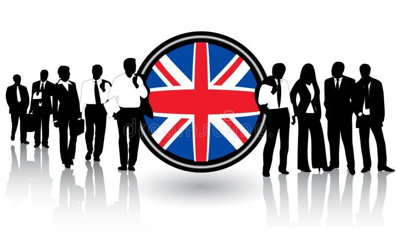 Vlag en mensen royalty-vrije illustratie