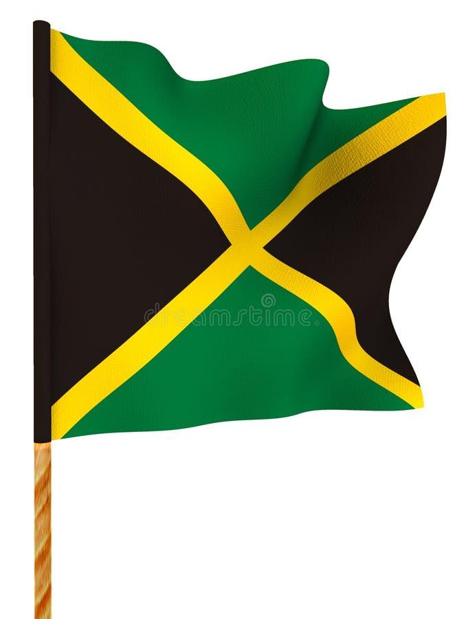 Vlag. Jamaïca. 3d royalty-vrije illustratie