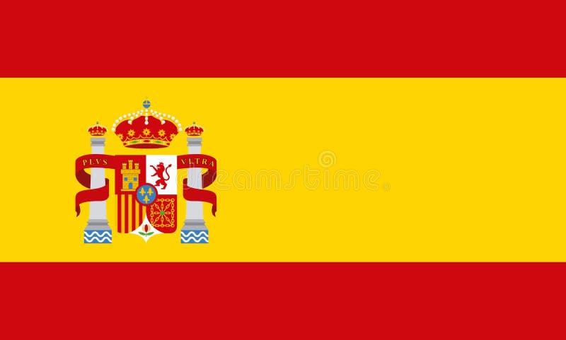 Vlag klassiek pictogram van Spaanse cultuur royalty-vrije illustratie