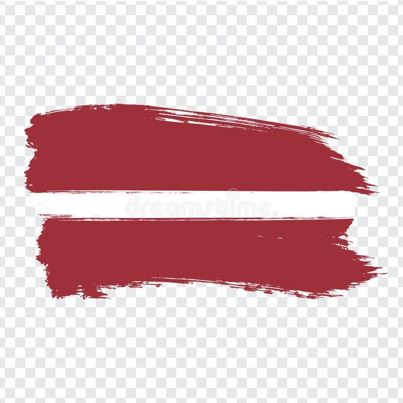 Vlag Letland van kwaststreken Vlag Letland op transparante achtergrond voor uw websiteontwerp, embleem, app, UI vector illustratie