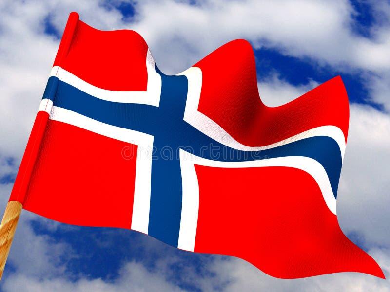 Vlag. Noorwegen royalty-vrije stock afbeelding