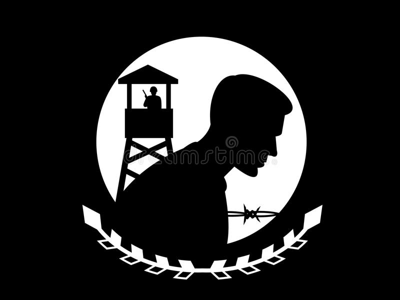 Vlag POW MIA vector illustratie