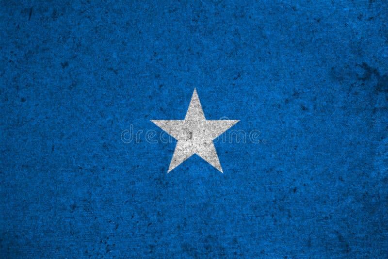 Vlag Somalië stock illustratie