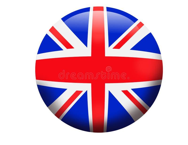 Vlag van 3D orb van Engeland het Verenigd Koninkrijk royalty-vrije illustratie