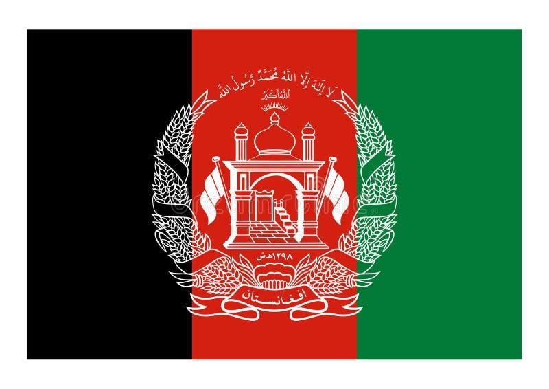 Vlag van Afghanistan royalty-vrije illustratie