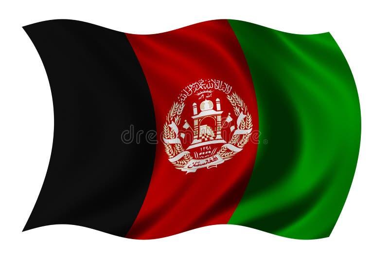 Vlag van Afghanistan stock illustratie