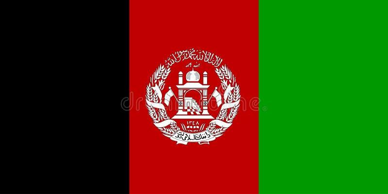 Vlag van Afghanistan vector illustratie