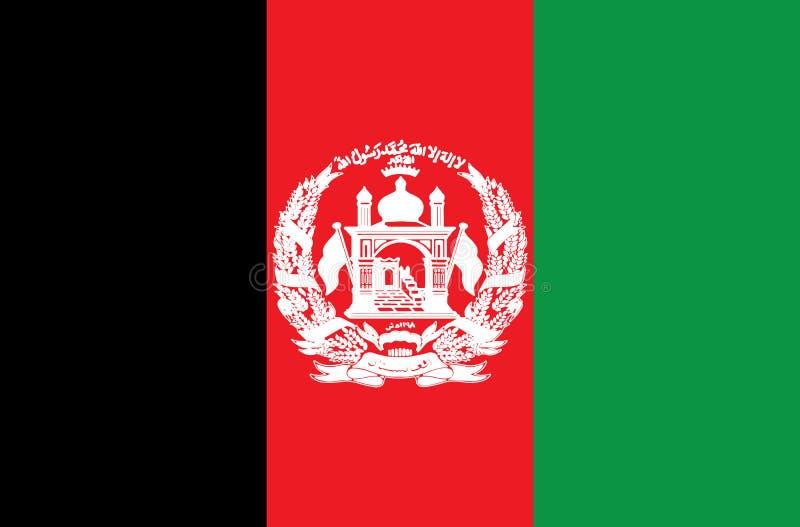 Vlag van Afghanistan Vector Nauwkeurige afmetingen, royalty-vrije illustratie