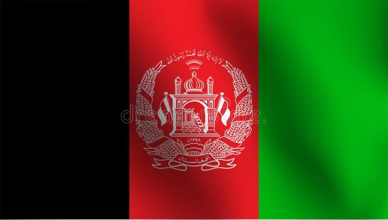 Vlag van Afghanistan - Vectorillustratie stock illustratie
