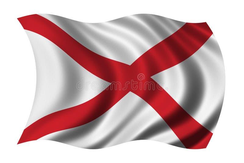 Vlag van Alabama vector illustratie