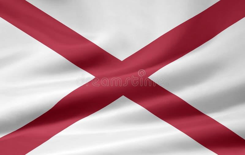 Vlag van Alabama stock illustratie