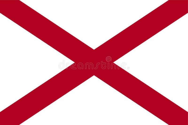Vlag van Alabama royalty-vrije illustratie