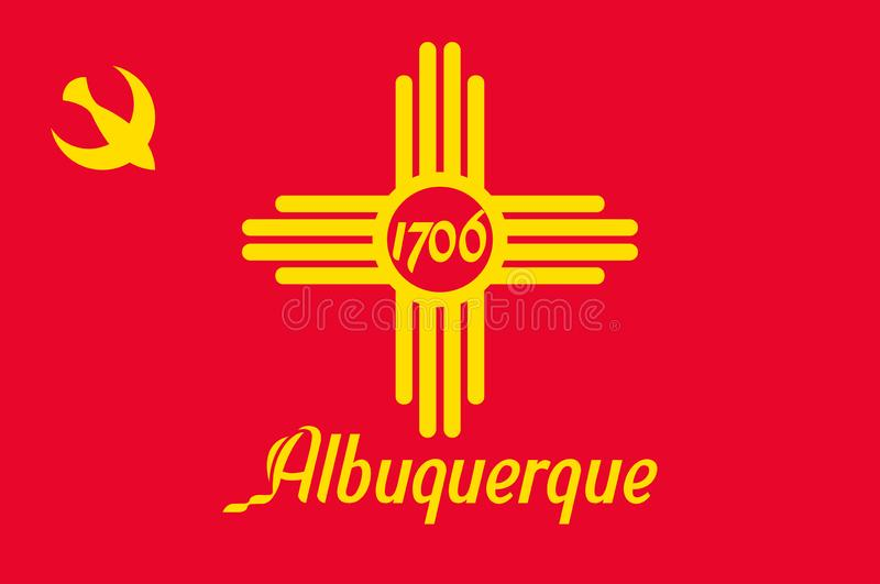 Vlag van Albuquerque in New Mexico, de V.S. stock illustratie