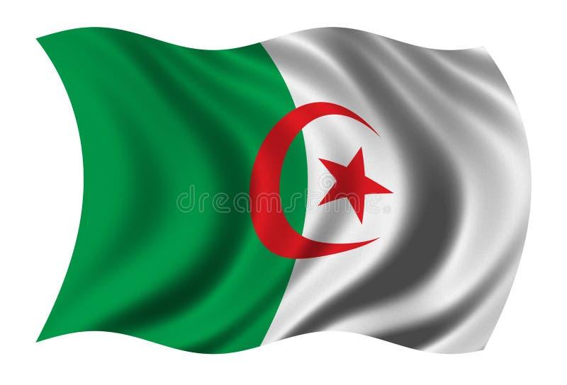Vlag van Algerije vector illustratie