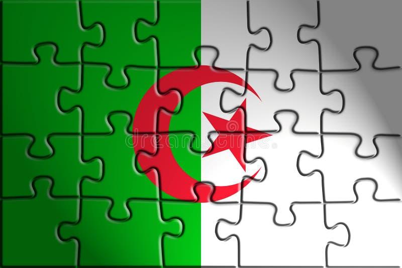 Vlag van Algerije stock illustratie