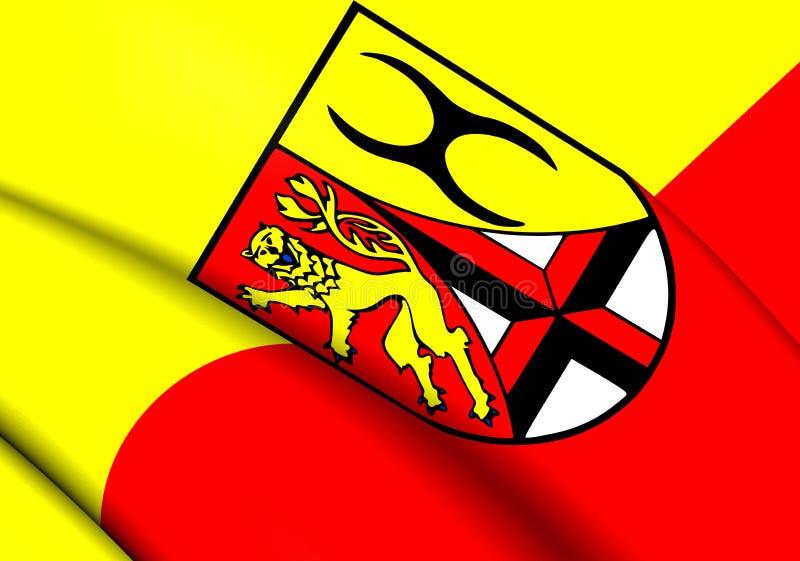 Vlag van Altenkirchen-District, Duitsland vector illustratie