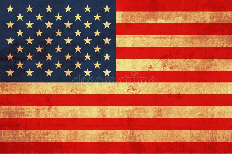 Vlag van Amerika royalty-vrije illustratie