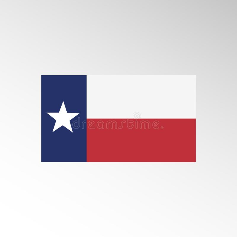 Vlag van Amerikaanse staat van de vector van Texas Het vectorpictogram van vlagtexas royalty-vrije illustratie