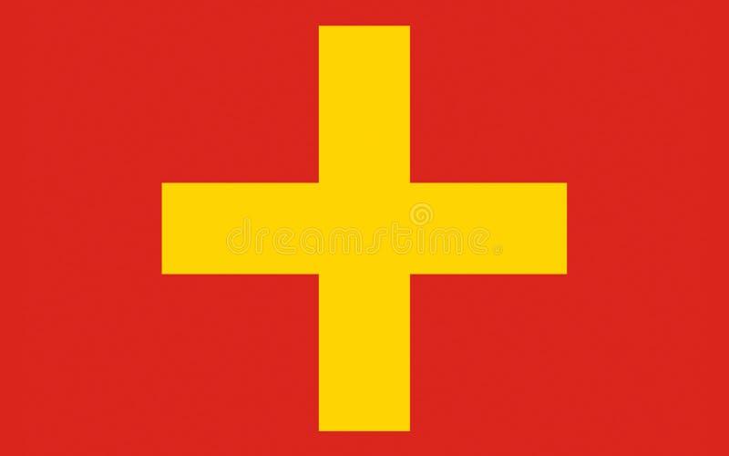 Vlag van Ancona van Marche, Italië royalty-vrije stock afbeeldingen
