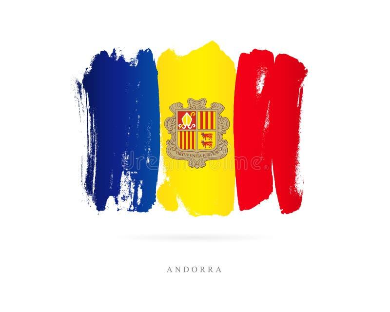Vlag van Andorra Abstract concept royalty-vrije illustratie