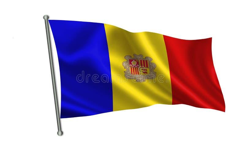 Vlag van Andorra Een deel van de reeks De vlag van Andorra Een reeks vlaggen van de wereld vector illustratie