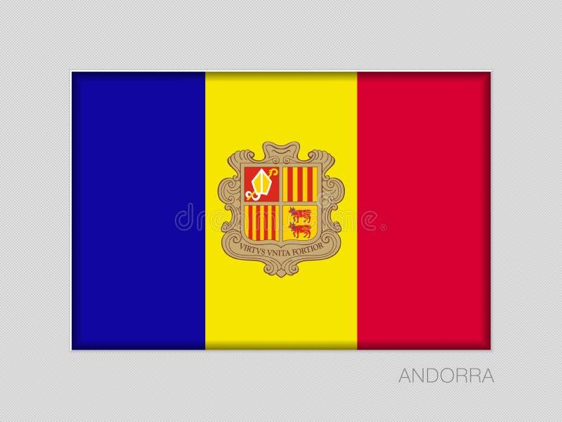 Vlag van Andorra Nationale VlagAspectverhouding 2 tot 3 royalty-vrije illustratie
